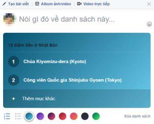 tính năng tạo danh sách trên facebook 7