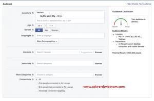 Các bước chạy Facebook Ads