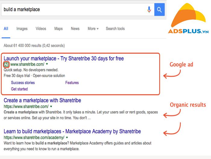 quảng cáo website trên Google 01