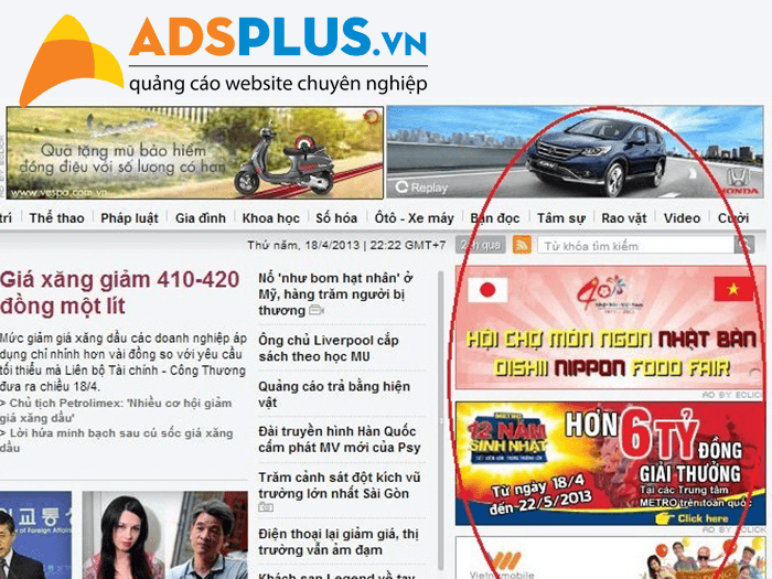 quảng cáo banner online truyền thống