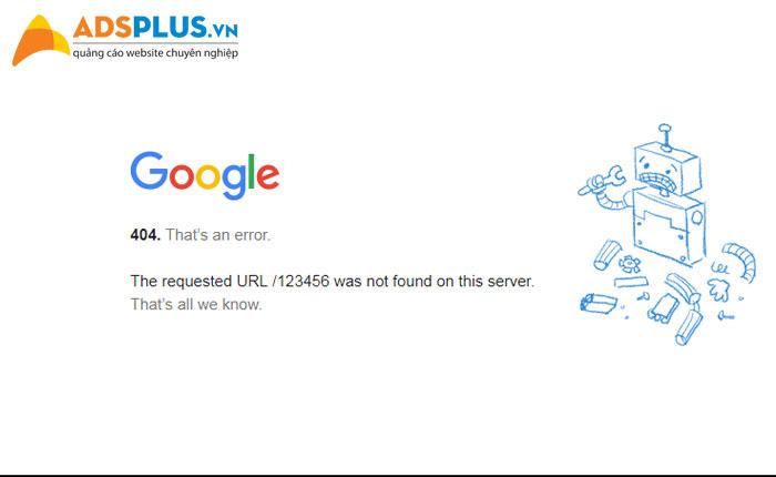 lỗi error 404