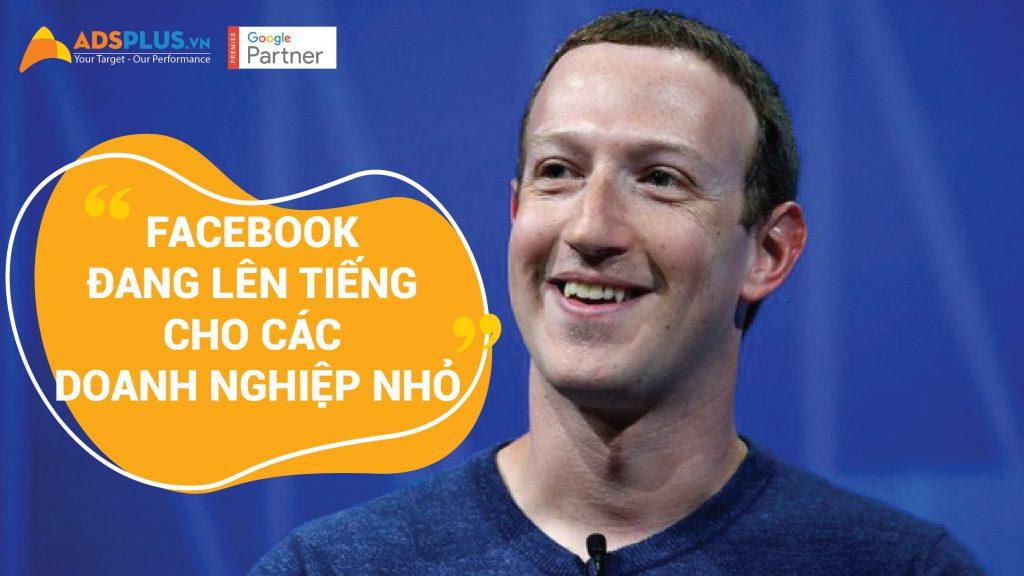 Facebook lên tiếng cho các doanh nghiệp nhỏ