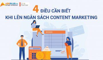 4 điều cần biết khi lên ngân sách Content Marketing