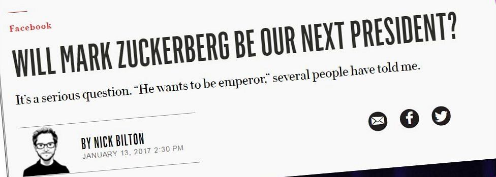 Mark Zuckerberg sẽ là tổng thống tiếp theo