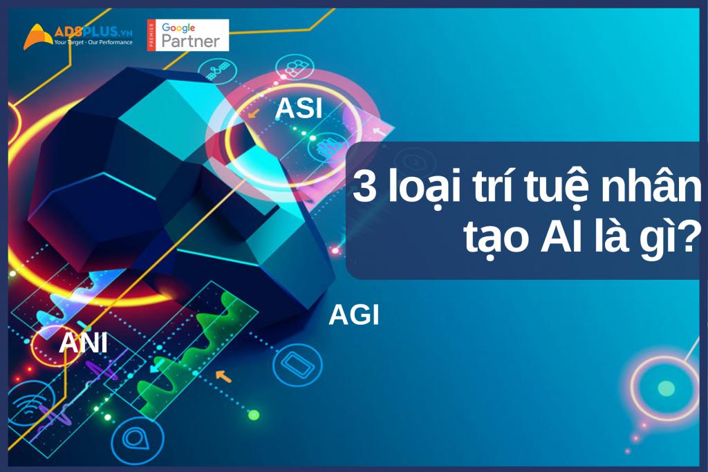 3 loại trí tuệ nhân tạo AI là gì? ANI (hẹp), AGI (tổng quát) và ASI (siêu nhân tạo)