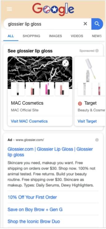 Quảng cáo trên Google Shopping