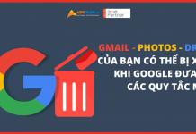 Quy tắc mới của Google: Gmail, Photos và Drive của bạn có thể bị xóa vào tháng tới