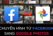 chuyển hình từ facebook sang google photos