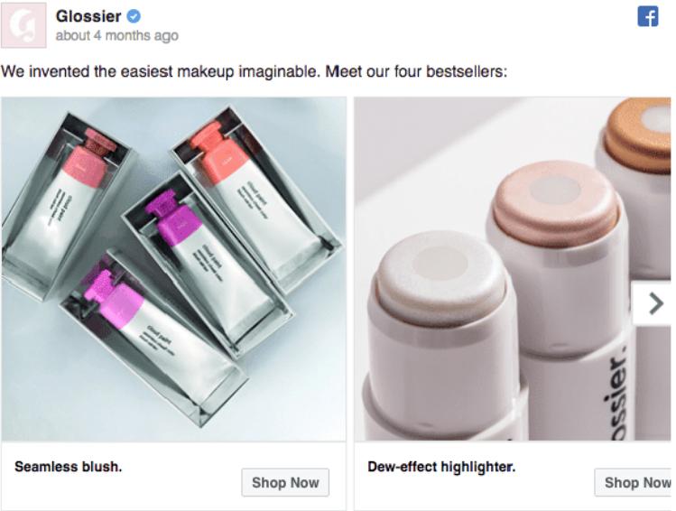 Glossier: giới thiệu những sản phẩm bán chạy nhất