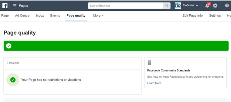 Chất lượng trang Facebook thấp khiến tài khoản Facebook bị hạn chế