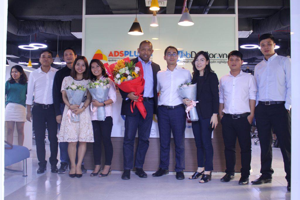 Đại diện Google thăm văn phòng mới của AdsPlus.vn ngày 17/01/2018