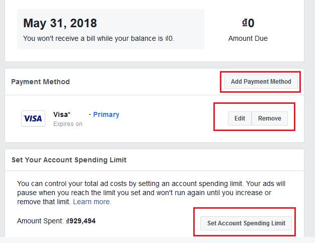 thiết lập tài khoản quảng cáo facebook
