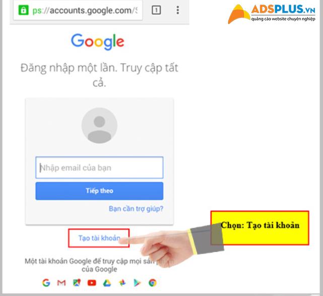 lập tài khoản google 02