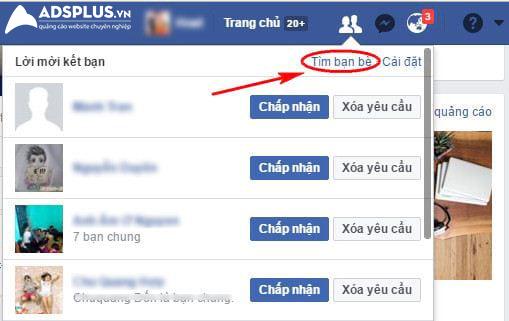 tìm facebook qua số điện thoại 02
